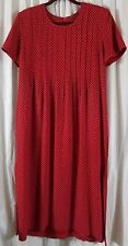 Jessica Howard Petite 12 Red Dots Dress Short Sleeve Vintage