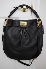 NWT MARC BY MARC JACOBS CLASSIC Q HILLIER HOBO SHOULDER BAG LEATHER BLACK
