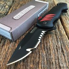 "8"" SHARK Design Rescue Tactical Spring Assisted Open Pocket Knife New BLACK"