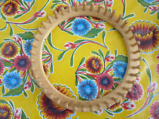 Vintage Wood Round Knitting Board Loom JL Hammett Co. 41 Pegs