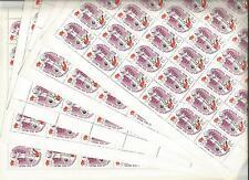 URSS 1976... 5 Feuilles n° 4257 ★★...Jeux-Olympiques...Basket-Ball...Coté 36€