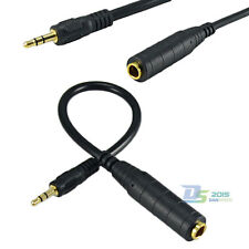 "30cm 3.5mm Male to 6.35mm 1/4"" Female Jack Adapter Converter Stereo Audio Cable"