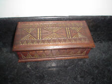 OLD CARVED WOODEN BOX