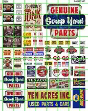 7014 DAVE'S DECALS HO SCRAP JUNKYARD AUTO RECYCLING GAS OIL SIGNAGE SET MORE