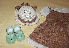 Adorable Handmade Dress & Hat w/Matching Shoes for Annette Himstedt Lottchen