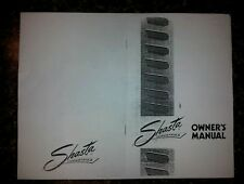 SHASTA VINTAGE TRAVEL TRAILER OWNERS MANUAL SAME DAY SHIPPING!  NEW (COPY)
