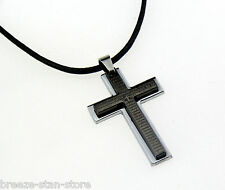 free Wholesale Men's Cross Pendant alloy necklace