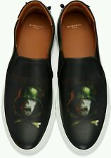 Givenchy Men's Leather Slip on Sneaker With Army Skull Print NIB Size 11