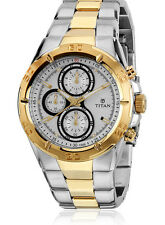Titan Regalia 9308BM01 Chronograph Analog Silver Dial Men's Watch