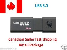 Kingston 8GB USB 3.0 DataTraveler 100 G3 USB Flash Drive(DT100G3-8G)