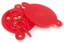 "Fire Department Connection - FDC Breakable Caps Plastic 2-1/2"" (Set of 2) Red"