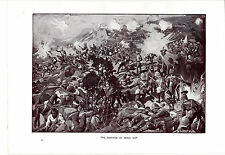 Boer War, The Defence of Spion Kop. Antique Scarce Military print circa 1902