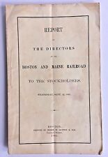 BOSTON and MAINE RAILROAD 1866 Report w People Killed Payroll Conductors Agents