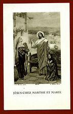 santino HOLY CARD  - GESU'  a casa di   MARTA e MARIA