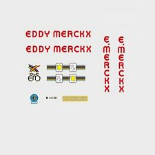 EDDY Merckx Corsa Extra Red Bicicletta Decalcomanie-Transfers-ADESIVI #16