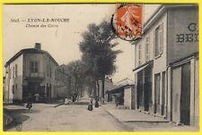cpa 69 - LYON (Rhône) Quartier LA MOUCHE GERLAND Rue des CURES Café BELLET