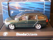 SKODA OCTAVIA COMBI TDI 2004 GREEN HIGH ABREX 143AB002HL 1/43 BREAK SW