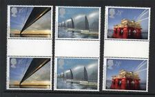 GB MNH 1983 SG1215-1217 EUROPA - ENGINEERING ACHIEVEMENTS SET OF 3 GUTTER PAIRS
