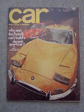Car (May 1970) Alpine Renault 1300S, Matra 530LX, Simca 1100 GLS, Peugeot 204