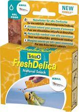 Tetra FreshDelica Krill in Gelee 48gr enthält 2x mehr Nährstoffe als Frostfutter