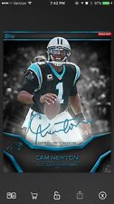 Topps Huddle Cam Newton Team Color Signature Marathon Digital Insert - Panthers