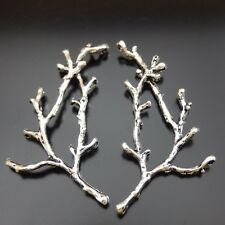 15pcs Antique Style Silver Tone Tree Branch Hole Fashion Jewelry Pendant 35352
