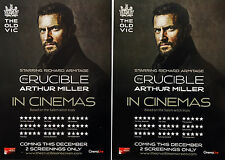 3 X RICHARD ARMITAGE THE CRUCIBLE CINEMA FLYERS - THE OLD VIC - ARTHUR MILLER