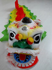 WHITE CHINESE LUCKY LION DRAGON HEAD COSTUME NEW YEAR PARTY NEW YEAR DANCE B3