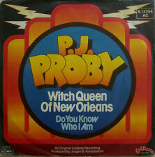 """7"""" 1978 CV REDBONE ! P.J. PROBY The Witch Queen Of New Orleans"""