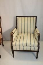 Elegant French Louis XV style Beech Wood Bergere Armchair With Down Cushion