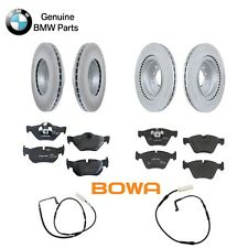 BMW E90 320i 2008 Front & Rear Disc Brake Rotor Kit with Pads & Sensors Genuine