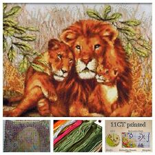 Stamped Cross Stitch Kit. Precision Printed 11ct Aida Canvas Art & Craft NEW