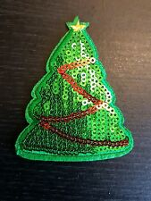 xmas tree sequin SANTA  jesus merry christmas hotfix Sew on Applique Motif Patch