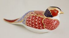 ROYAL CROWN DERBY IMARI PAPERWEIGHT PHEASANT w/GOLD STOPPER - Mint
