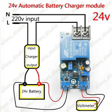 24V 30A Automatic Battery Charger Protection Module Auto Controller Relay Board