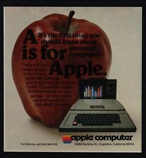 1978 APPLE II Personal Computer - A Is For Apple - STEVE JOBS - VINTAGE AD