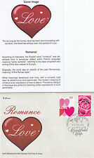 """2014 Valentines Day 60c pair booklet stamps on limited edition """"K"""" Covers FDC"""