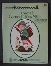 Authentic HUMMEL Designs Counted Cross Stitch Pattern Book