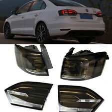 Smoke Euro Hybrid Style LED Tail light w/ Rear Fog Lights For 11-14 VW Jetta MK6