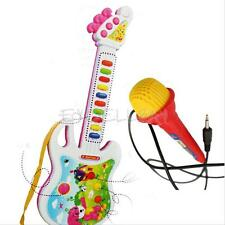 Electronic Guitar Mic Music Instrument Children Kids Early Educational Toy NEW