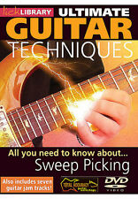 LICK LIBRARY Learn Rock Guitar SWEEP PICKING Video Lesson DVD with Stuart Bull