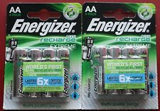 Energizer Rechargeable Batteries 8x Recharge EXTREME AA 2300mAh Battery
