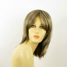 mid length wig Light blond copper wick clear and chocolate YRIS 15613H4 PERUK