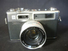 Old Vtg Yashica Electra 35 45 MM Camera With Black Case Photography