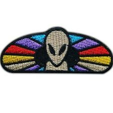 Alien UFO Rainbow NASA Space Embroidered Iron On Shirt Bag Jeans Badge Patch