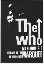 THE WHO A3 CARD PRINT. QUADROPHENIA, Mod, Marquee Club, Keith Moon, Scooter.
