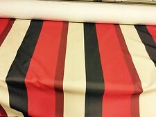 SUPER LUXURIOUS CURTAIN UPHOLSTERY BLACK OUT STRIPE  FABRIC BY PANAZ 10 METRES