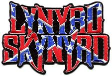 LYNYRD SKYNYRD large flag logo EMBROIDERED IRON-ON PATCH *Free Shipping* p1949x