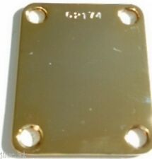 NECK PLATE Custom Shop - serial number - USA -gold - pour guitare strat, tele...