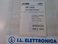 MANUALE IN ITALIANO  istruzioni d'uso per AOR AR-1500
